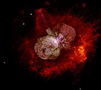 Dados obtidos pela equipe internacional que acompanha os fenômenos em Eta Carinae – liderados por Augusto Damineli, do IAG/USP – poderão validar ou colocar em xeque os modelos teóricos existentes sobre a estrutura de grandes estrelas (Nasa