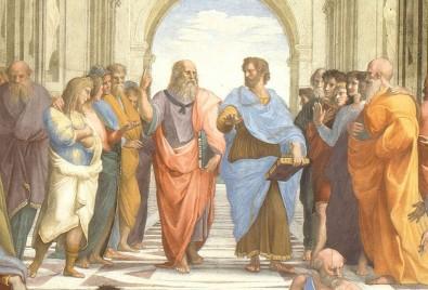 Centrado em Platão e Aristóteles, estudo reúne na USP pesquisadores de várias instituições e mantém intercâmbio intenso com universidades do exterior (foto da pintura de Rafael, com Platão e Aristóteles no centro: Wikimedia)