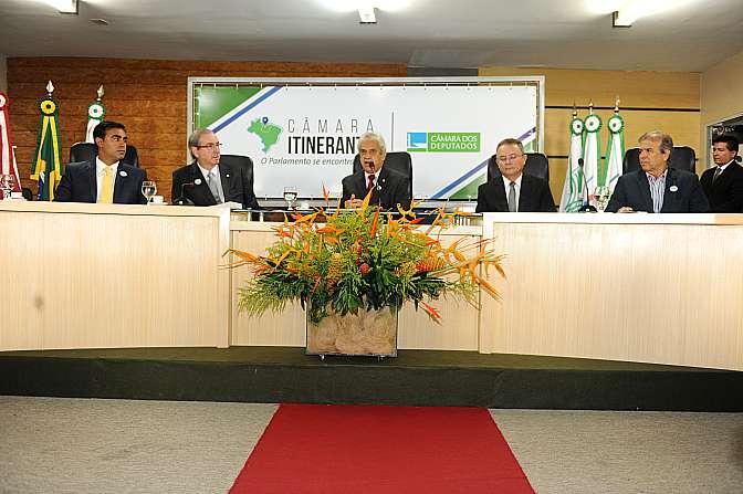 Eduardo Cunha falou sobre reforma política e pacto federativo a políticos e empresários paraenses. Foto: J. Batista