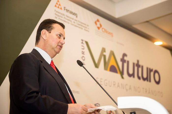 Ministro das Cidades, Gilberto Kassab, durante a abertura do Fórum Via Futuro Segurança no Trânsito