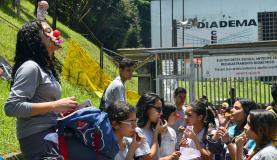 A  Escola  Estadual  Diadema,  uma  das  unidades ocupadas por estudantes Arquivo/Agência Brasil